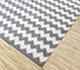 Jaipur Rugs - Flat Weave Cotton Grey and Black PDCT-63 Area Rug Floorshot - RUG1086747