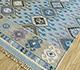 Jaipur Rugs - Flat Weaves Wool Blue PDWL-353 Area Rug Floorshot - RUG1098474