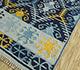 Jaipur Rugs - Flat Weave Wool Blue PDWL-445 Area Rug Floorshot - RUG1098489