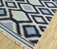 Jaipur Rugs - Flat Weave Wool Blue PDWL-448 Area Rug Floorshot - RUG1098492