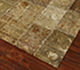 Jaipur Rugs - Patchwork Wool and Silk Green PSK-952 Area Rug Floorshot - RUG1054540
