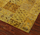 Jaipur Rugs - Patchwork Wool and Silk Gold PSK-952 Area Rug Floorshot - RUG1050152