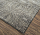 Jaipur Rugs - Hand Knotted Wool and Silk Grey and Black QM-169 Area Rug Floorshot - RUG1064279