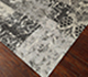 Jaipur Rugs - Hand Knotted Wool and Silk Grey and Black QM-714 Area Rug Floorshot - RUG1061504