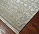 Jaipur Rugs - Hand Knotted Wool and Silk Grey and Black QNQ-03 Area Rug Floorshot - RUG1040475