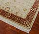 Jaipur Rugs - Hand Knotted Wool and Silk Ivory QNQ-07 Area Rug Floorshot - RUG1042518