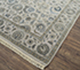 Jaipur Rugs - Hand Knotted Wool and Silk Grey and Black QNQ-21 Area Rug Floorshot - RUG1064501