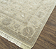 Jaipur Rugs - Hand Knotted Wool and Silk Ivory QNQ-21 Area Rug Floorshot - RUG1077117