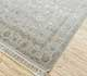 Jaipur Rugs - Hand Knotted Wool and Silk Grey and Black QNQ-44 Area Rug Floorshot - RUG1024932