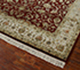 Jaipur Rugs - Hand Knotted Wool and Silk Red and Orange QNQ-44 Area Rug Floorshot - RUG1041870