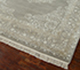 Jaipur Rugs - Hand Knotted Wool and Silk Grey and Black QNQ-55 Area Rug Floorshot - RUG1021024