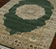 Jaipur Rugs - Hand Knotted Wool and Silk Green QNQ-55 Area Rug Floorshot - RUG1022352