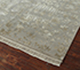 Jaipur Rugs - Hand Knotted Wool and Silk Grey and Black QNQ-72 Area Rug Floorshot - RUG1054742