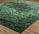 Jaipur Rugs - Hand Knotted Wool and Silk Green QRS-958 Area Rug Floorshot - RUG1070517