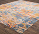 Jaipur Rugs - Hand Knotted Wool and Bamboo Silk Blue SRB-705 Area Rug Floorshot - RUG1074521