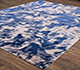 Jaipur Rugs - Hand Knotted Wool and Bamboo Silk Blue SRB-706 Area Rug Floorshot - RUG1070929