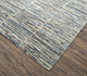 Jaipur Rugs - Hand Knotted Wool and Bamboo Silk Grey and Black SRB-712 Area Rug Floorshot - RUG1074149