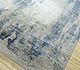 Jaipur Rugs - Hand Knotted Wool and Bamboo Silk Grey and Black SRB-728 Area Rug Floorshot - RUG1079787