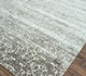 Jaipur Rugs - Hand Knotted Wool and Bamboo Silk Grey and Black SRB-772 Area Rug Floorshot - RUG1071794