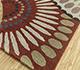 Jaipur Rugs - Hand Tufted Wool Red and Orange TRA-312 Area Rug Floorshot - RUG1099323