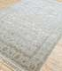 Jaipur Rugs - Hand Knotted Wool and Silk Grey and Black QNQ-44 Area Rug Floorshot - RUG1063076