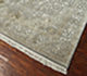 Jaipur Rugs - Hand Knotted Wool and Silk Grey and Black QNQ-50 Area Rug Floorshot - RUG1058380
