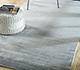 Jaipur Rugs - Hand Loom Bamboo Silk Blue CX-7042 Area Rug Roomscene shot - RUG1091759
