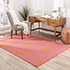 Jaipur Rugs - Flat Weave Wool Pink and Purple DW-108 Area Rug Roomscene shot - RUG1032750