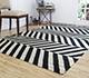 Jaipur Rugs - Flat Weave Wool Grey and Black DW-112 Area Rug Roomscene shot - RUG1021547