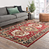Jaipur Rugs - Hand Knotted Wool Red and Orange LCA-2351 Area Rug Roomscene shot - RUG1063973