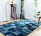 Jaipur Rugs - Hand Tufted Wool and Viscose Blue LEQ-32 Area Rug Roomscene shot - RUG1081563