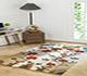 Jaipur Rugs - Hand Tufted Wool Gold LET-1012 Area Rug Roomscene shot - RUG1089215