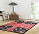 Jaipur Rugs - Hand Tufted Wool Red and Orange LET-1027 Area Rug Roomscene shot - RUG1089219