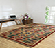 Jaipur Rugs - Flat Weave Jute Red and Orange PDJT-161 Area Rug Roomscene shot - RUG1107018