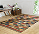 Jaipur Rugs - Flat Weave Jute Red and Orange PDJT-180 Area Rug Roomscene shot - RUG1091783