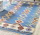Jaipur Rugs - Flat Weave Wool Blue PDWL-353 Area Rug Roomscene shot - RUG1098476
