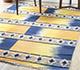 Jaipur Rugs - Flat Weaves Wool Blue PDWL-455 Area Rug Roomscene shot - RUG1098500