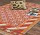 Jaipur Rugs - Flat Weave Wool Red and Orange PDWL-73 Area Rug Roomscene shot - RUG1021498