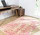 Jaipur Rugs - Hand Loom Wool and Viscose Red and Orange PHWV-80 Area Rug Roomscene shot - RUG1084159