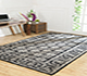 Jaipur Rugs - Hand Knotted Wool Grey and Black PKWL-248 Area Rug Roomscene shot - RUG1062512