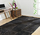 Jaipur Rugs - Patchwork Wool Grey and Black PWC-410-1 Area Rug Roomscene shot - RUG1017544