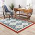 Jaipur Rugs - Flat Weave Wool Blue PX-2088 Area Rug Roomscene shot - RUG1032937