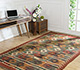 Jaipur Rugs - Flat Weave Jute Red and Orange PX-2109 Area Rug Roomscene shot - RUG1107058