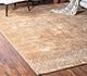 Jaipur Rugs - Hand Knotted Wool and Silk Beige and Brown QM-951 Area Rug Roomscene shot - RUG1085256