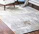 Jaipur Rugs - Hand Knotted Wool and Bamboo Silk Grey and Black SRB-730 Area Rug Roomscene shot - RUG1083773