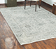 Jaipur Rugs - Hand Knotted Wool and Bamboo Silk Grey and Black SRB-771 Area Rug Roomscene shot - RUG1076679
