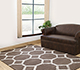 Jaipur Rugs - Hand Tufted Wool and Viscose Beige and Brown TAQ-191 Area Rug Roomscene shot - RUG1031132