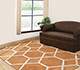 Jaipur Rugs - Hand Tufted Wool and Viscose Red and Orange TAQ-195 Area Rug Roomscene shot - RUG1031145