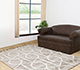 Jaipur Rugs - Hand Tufted Wool and Viscose Beige and Brown TAQ-228 Area Rug Roomscene shot - RUG1056035