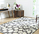 Jaipur Rugs - Hand Tufted Wool and Viscose Grey and Black TAQ-6051 Area Rug Roomscene shot - RUG1060804